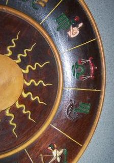 astrology zodiac bowl plate wood
